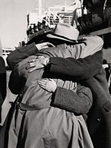 Romanian families reunite in Haifa Port, 1951. Many had not seen each other since the beginning of World War II. - COURTESY ILLINOIS HOLOCAUST MUSEUM