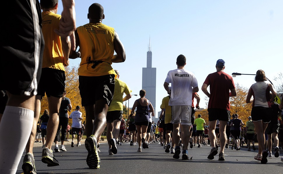 Runners on Jackson in last years Chicago Marathon