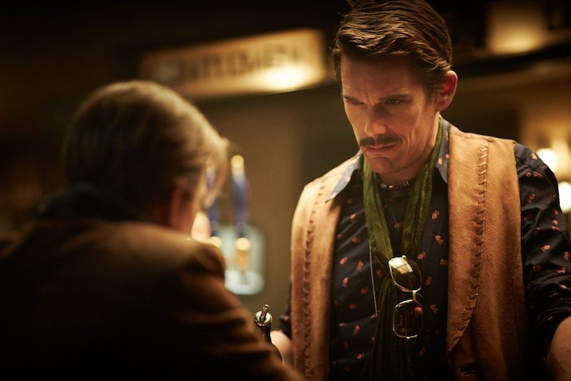 Sarah Snook and Ethan Hawke in Predestination