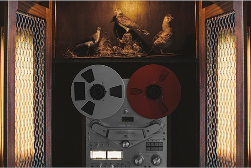 Scott McNiece of Uncanned Music calls the Akai GX-635D reel-to-reel deck at Sportsman's Club