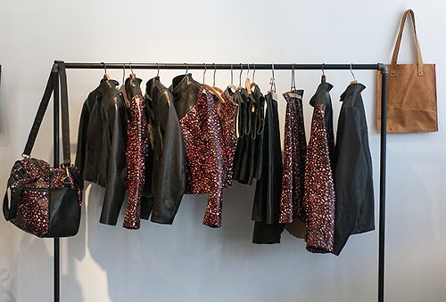 Screen printed leather pieces by Production Mode