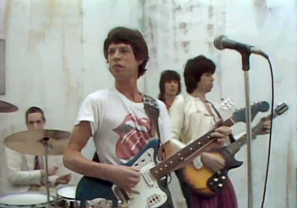 "Screen shot from the video for the Rolling Stones' ""Respectable"""