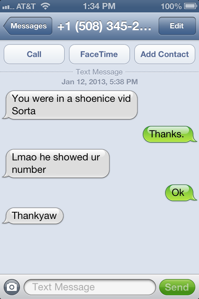 shoenice put my phone number on bleader