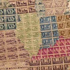 Show us your . . . United States map of stamps