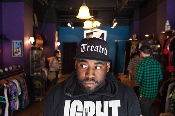 """ShowYouSuck at Jugrnaut. """"You can walk into Jugrnaut and see me and St. Millie or other artists. Since they're open all day, artists like me who don't have a day jobs, that's where we hang out."""""""
