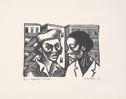 "Special Houses by Elizabeth Catlett, part of ""They Seek a City: Chicago and the Art of Migration, 1910-1950"" - ESTATE OF ELIZABETH CATLETT/LICENSED BY VAGA, NEW YORK, NY"