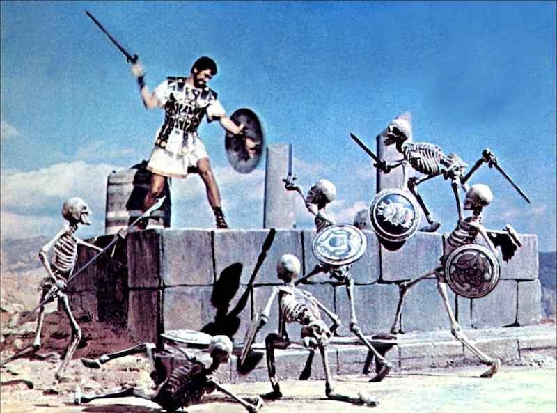 Squires cites the skeleton fight in Jason and the Argonauts as one of his all-time favorite effects sequences.