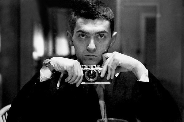 Stanley Kubrick takes a selfie for Look magazine