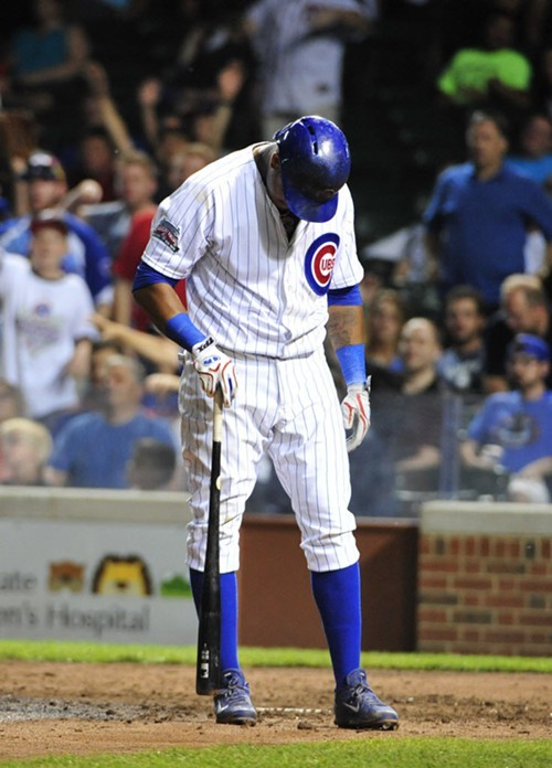 Starlin Castro, after whiffing in the second game.