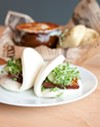 Steamed buns, or <i>bao</i>, with pork belly