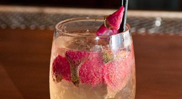 Step-by-step instructions for making an Office bartender's dragon fruit cocktail