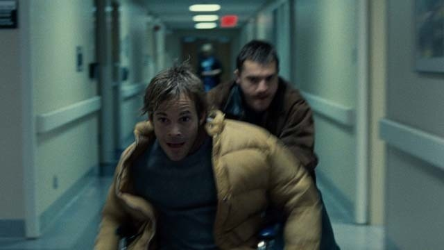 Stephen Dorff and Emile Hirsch break out of a hospital in The Motel Life.