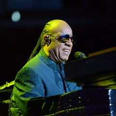 Stevie Wonder onstage at the United Center last Friday