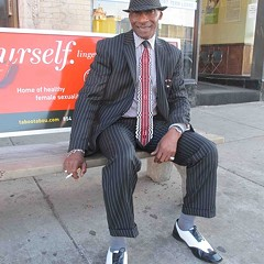 Street View 130: Success attire while waiting for the bus