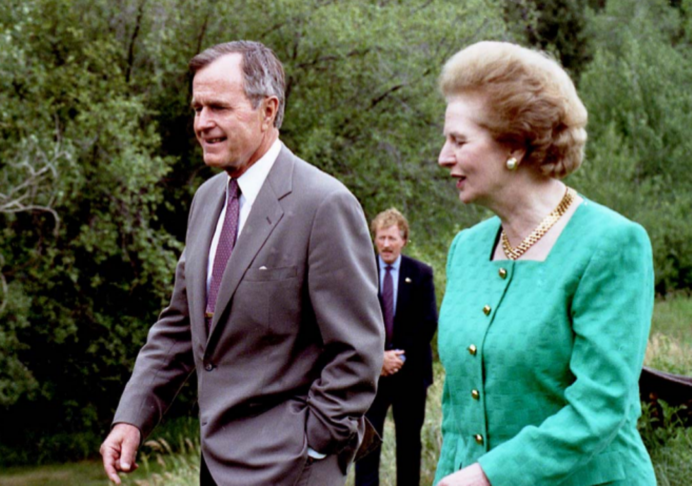 Image result for George H.W. Bush met Margaret Thatcher in Aspen, photos