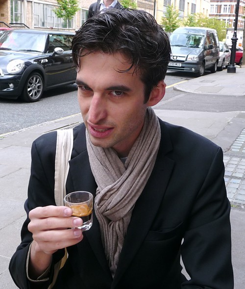 The author and his espresso