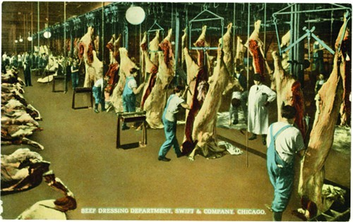 The Beef Dressing Department, Swift and Company, ca. 1915