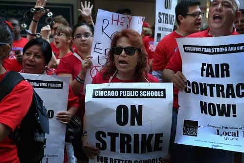 The teachers' strike last September was really about protecting political power, Rauner says.