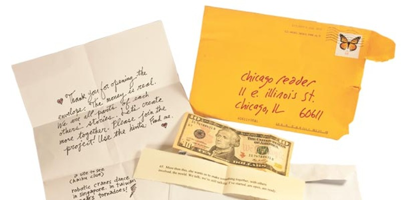 The contents of the mystery envelope