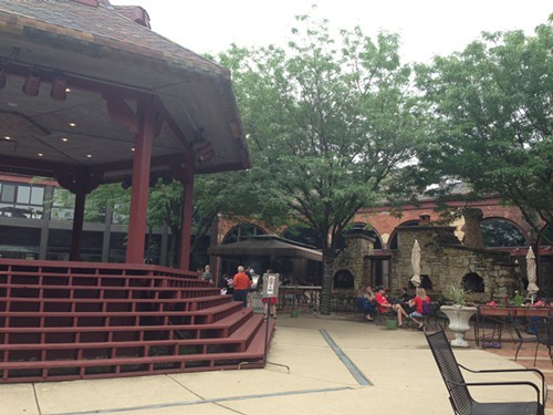 The courtyard at the Roundhouse
