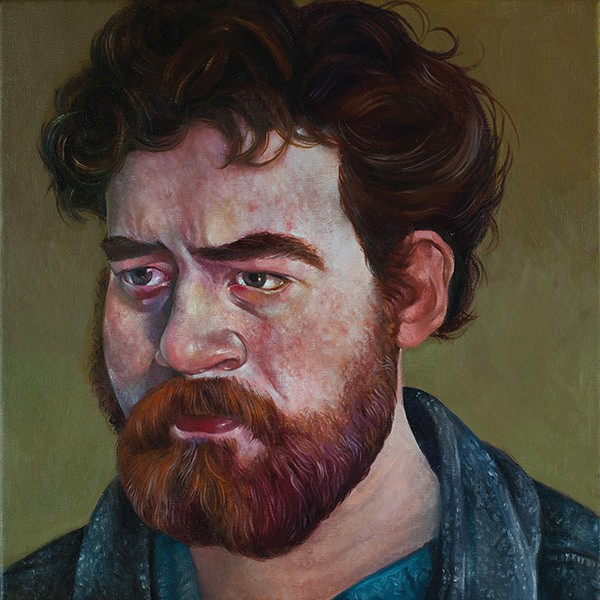 The cover of Daniel Knox is a portrait painting by Gregory Jacobsen.