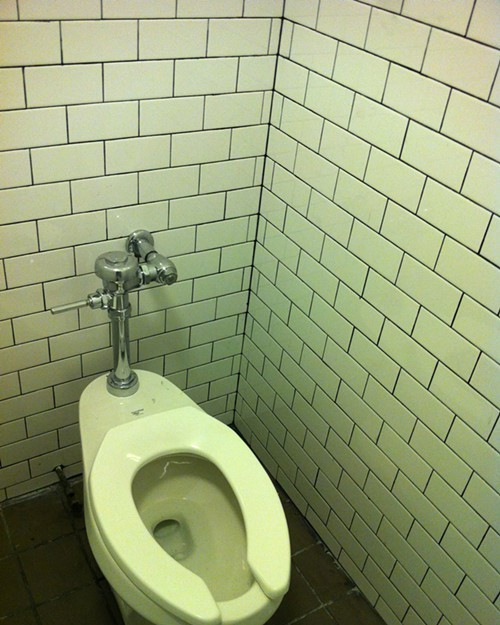 The Empty Bottle mens room gets a much needed makeover