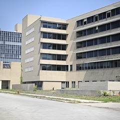 The former campus of Michael Reese hospital, shown in 2009, the year the city bought the property. The bill--up to $91 million--is now coming due.