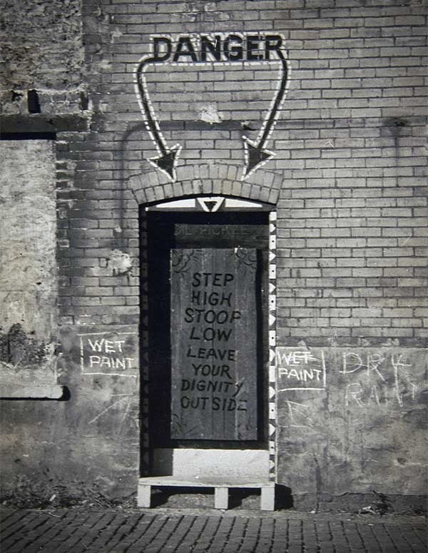 The front door of the Dil Pickle Club at 18 W. Tooker Place - THE NEWBERRY LIBRARY, CHICAGO