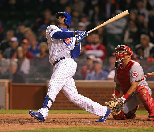 The future for the Cubs: Jorge Soler, homering against the Reds earlier this month.