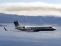 The Gulfstream G5 in flight