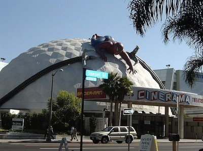 The historic Cinema Dome in Hollywood, currently managed by ArcLight Cinemas