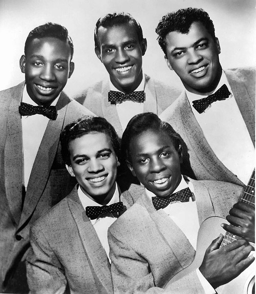 The Impressions circa 1958 (top) Jerry Butler, Sam Gooden, Arthur Brooks (bottom) Richard Brooks, Curtis Mayfield - GILLES PETARD/REDFERNS