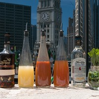 Step-by-step instructions for making Ingi Sigurdsson's sweet potato swizzle The ingredients: Ron Zacapa 23 Year, lemon juice, sweet potato syrup, sweet-potato-infused rum, the Flor de Cana rum used for it, fresh mint (omitted: Angostura bitters)