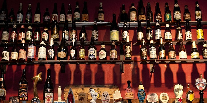 The Map Room's tap handles are exactly what you won't be able to see on Sunday.