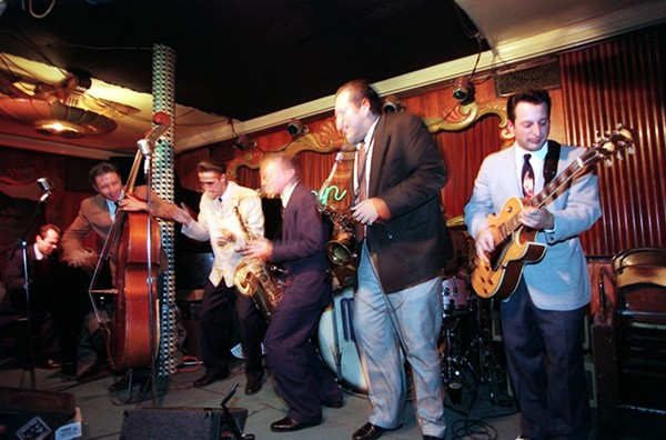 The Mighty Blue Kings at the Green Mill on February 11, 1996. - ANDRE F. CHUNG | SUN-TIMES