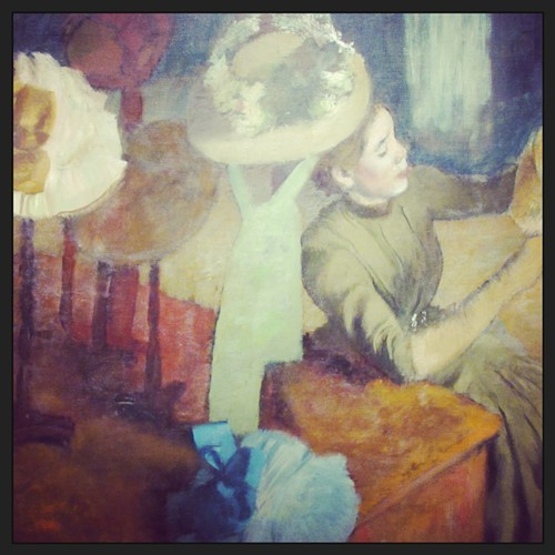 The Millinery Shop, by Edgar Degas, 1879/86