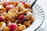 The most inventive dessert is a send-up of Kellogg's Corn Pops. - ANDREA BAUER