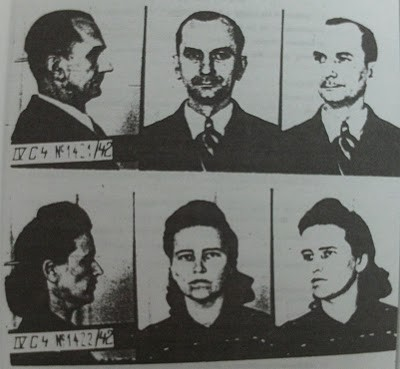 The mug shots of Otto and Elise Hampel
