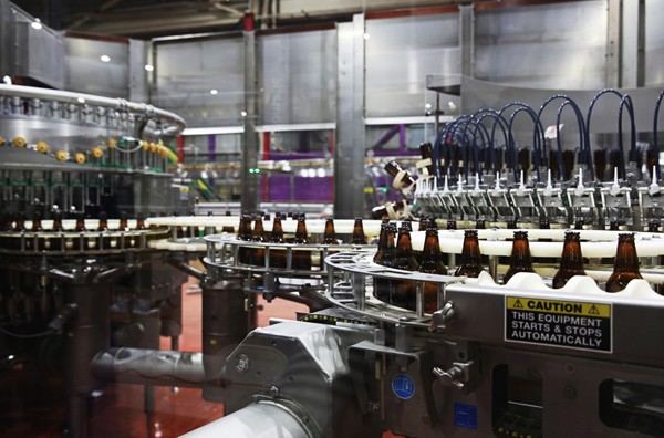 The new Lagunitas brewery in Chicago started bottling beer last month.