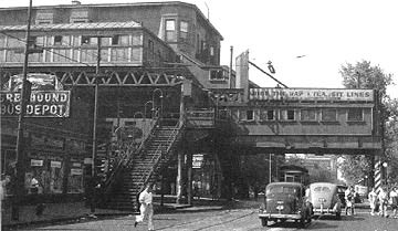 The old Jackson Park station, end of the line