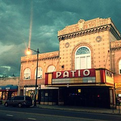 The Patio, a gorgeous old movie palace currently experiencing a run of very bad luck