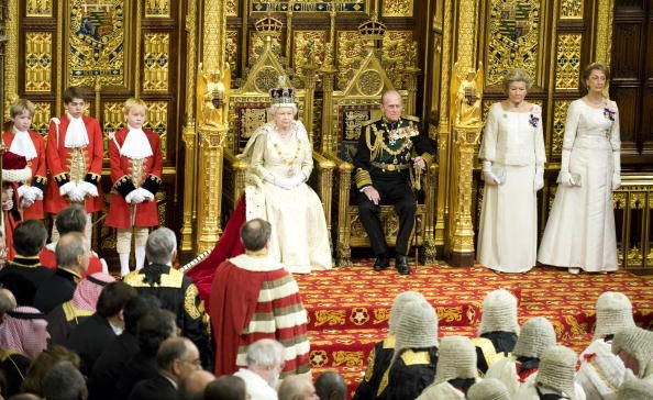 The Queen opens parliament.