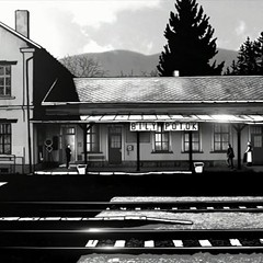 The railway station in Alois Nebel, which screens again tomorrow night