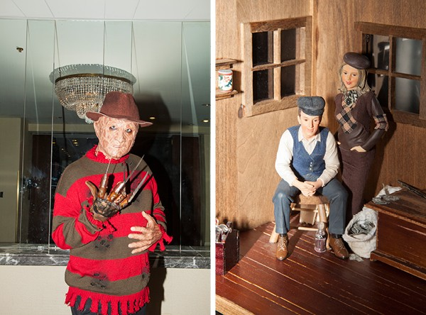 The requisite Freddy Krueger sighting; part of a Bonnie and Clyde display - PARKER BRIGHT