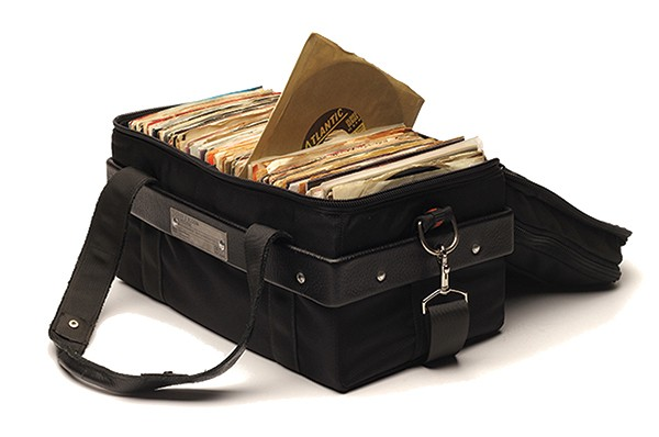 The Rich Medina model 45 RPM record bag - COURTESY TUCKER & BLOOM