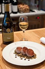 The seared cotechino sausage at Carne - ANDREA BAUER