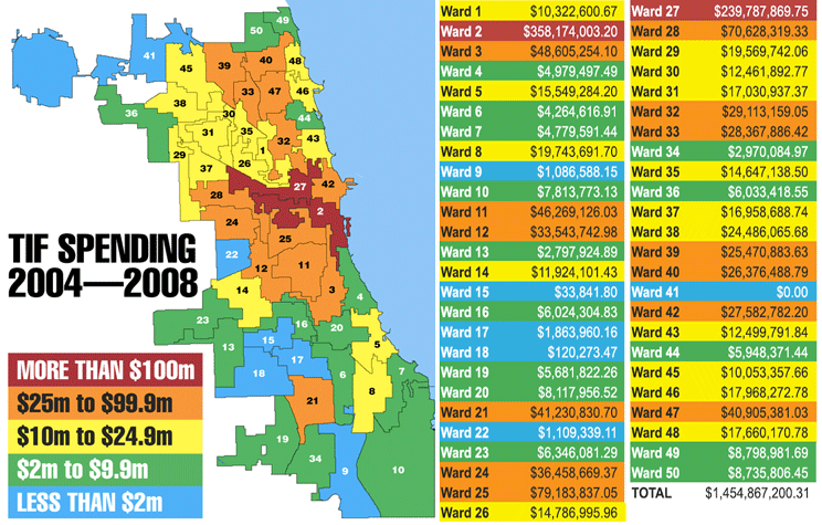 3rd Ward Chicago Map.The Shadow Budget Who Wins In Daley S Tif Game Politics Chicago