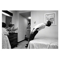 Selected highlights from Art Shay's archives The Shays explore a downtown hotel room for one of Art's assignments. Art Shay