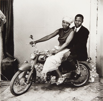 The Two of Us on a Motorcycle by Malick Sidibé