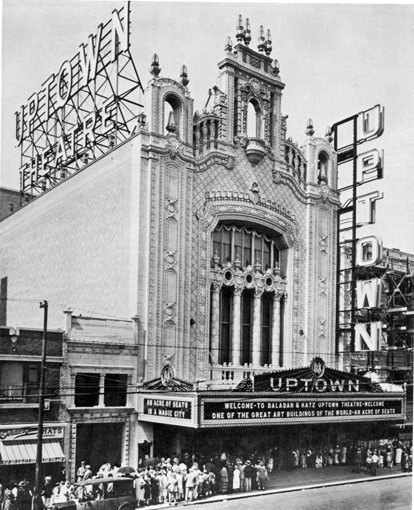 The Uptown Theater, built in 1925, took the space occupied by the original Green Mill Gardens. - SUN-TIMES PRINT COLLECTION